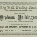 The Orpheus Bellringers ticket