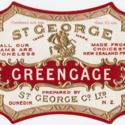 St. George Greengage jam label