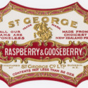St. George Raspberry and Gooseberry jam label