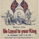Be loyal to your King (An Englishman's lesson to his son)