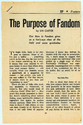The Purpose of Fandom