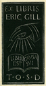 Eric Gill's bookplate reproduced from Franz Toussaint, The Garden of Caresses