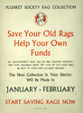 'Plunket Society Rag Collection: Save Your Old Rags Help Your Own Funds' poster