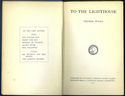 To the Lighthouse. 1st edition