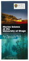 Marine Science at the University of Otago: Our Place in the World – is underwater