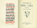 Letters of Eric Gill