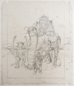 Cover sketch in pencil