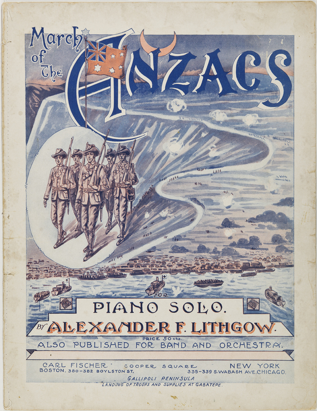 March of the ANZACs: For piano solo - University of Otago