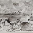 Lower right (l.r.) in ink: Woollaston '61; on ta...