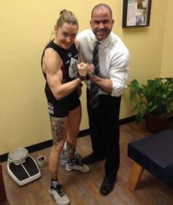 Sam Briggs and Dr. TJ Meyer