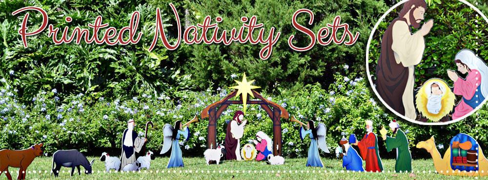 Holy Night Complete Printed Nativity Scene