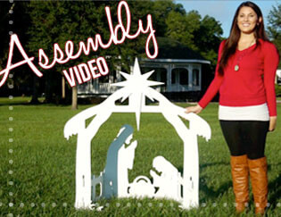 Outdoor Nativity Sets Assembly Videos