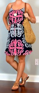 outfit post: medallion print dress