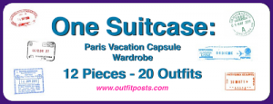 (outfits 17-20) one suitcase: paris vacation capsule wardrobe
