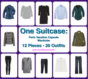 one suitcase: paris vacation capsule wardrobe