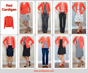 2013 in review – outfit posts: red cardigan