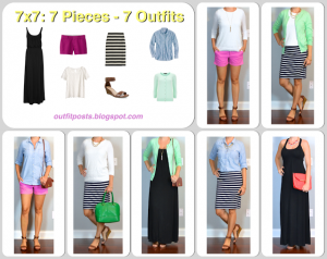 outfit post: summer 7×7 (7 pieces = 7 outfits)