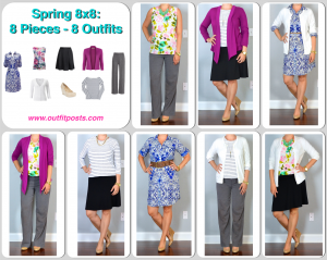 outfit post: spring 8×8 – 8 pieces – 8 outfits