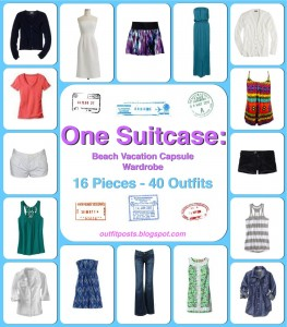 one suitcase: beach vacation capsule wardrobe