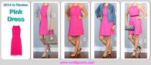 2014 in review – outfit posts: pink dress – 4 ways