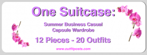 (outfits 9-12) one suitcase: summer business casual capsule wardrobe