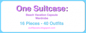 (outfits 31-35) one suitcase: beach vacation capsule wardrobe