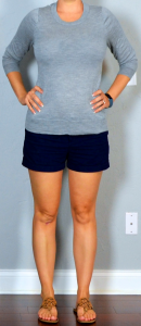 outfit post twofer – california coast/san franscico: grey sweater, navy shorts & grey sweater, skinny jeans