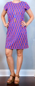 outfit post: orange & blue ribbons sheath dress