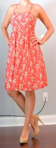 outfit post: orange floral dress