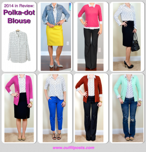 2014 in review – outfit posts: polka dot blouse – 7 ways