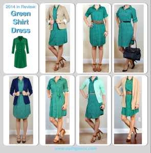 2014 in review – green shirt dress – 7 ways