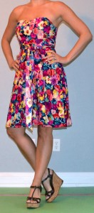 outfit post: bright floral dress