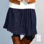 brownleatherjktnavyskirt