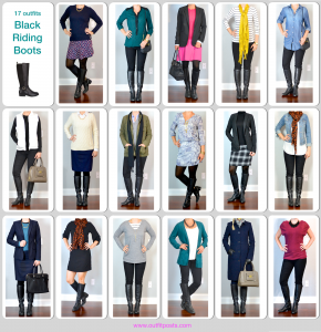 year in review – outfit posts: black riding boot – 17 ways