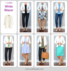 year in review – outfit posts: white blazer – 7 ways