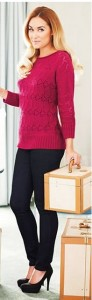 outfit post: pink sweater, black skinny jeans, black pumps