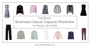 (outfits 1-5) fall/winter business casual capsule wardrobe
