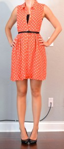 outfit post: orange polka dot dress