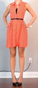 outfit post: orange polka dot dress