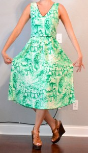outfit post: green toile dress