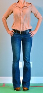 outfit post: taupe shirt & bootcut jeans
