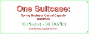 (outfits 21-25) one suitcase: business casual capsule wardrobe