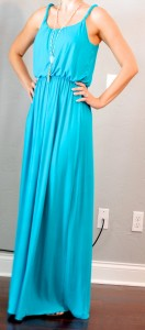 outfit post: teal maxi dress