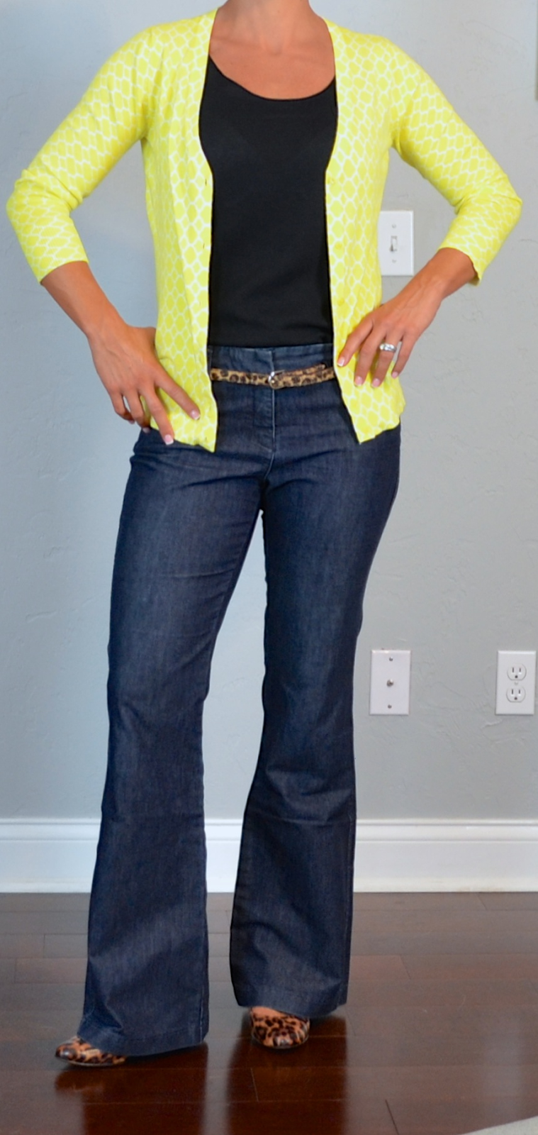 Yellow bootcut jeans