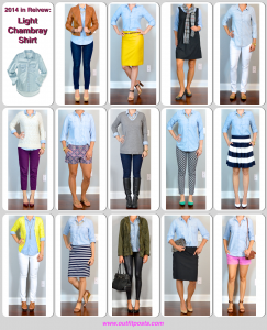 2014 in review – outfit posts: light chambray shirt – 14 ways