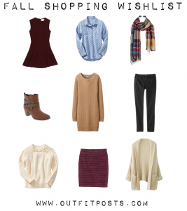outfit post: october 2014 fall shopping wishlist