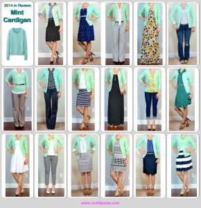 2014 in review – outfit posts: mint cardigan – 17 ways