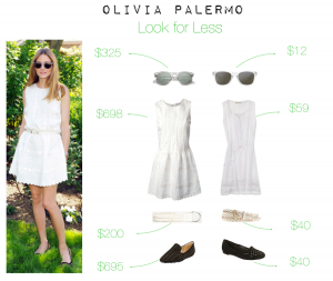 outfit posts look for less: olivia palermo white embroidered dress