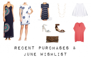 outfit post: june 2014 recent purchases & shopping wishlist
