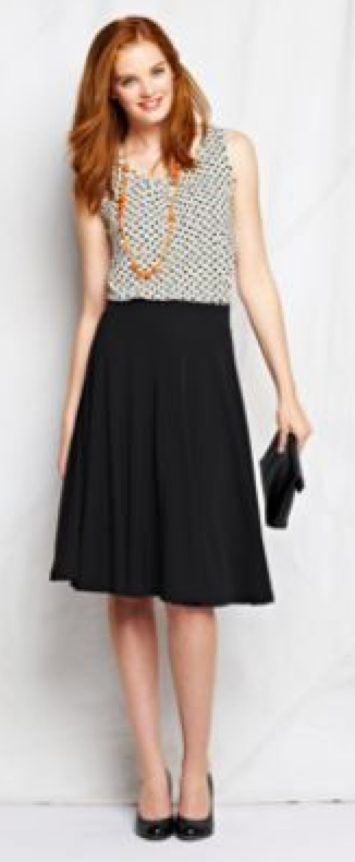 Black A Line Skirt Outfits